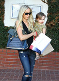 Kimberly Stewart ate lunch with her daughter, Delilah, on Saturday in LA.
