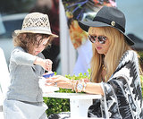 Rachel Zoe treated her son, Skyler, to frozen yogurt in Malibu, CA.