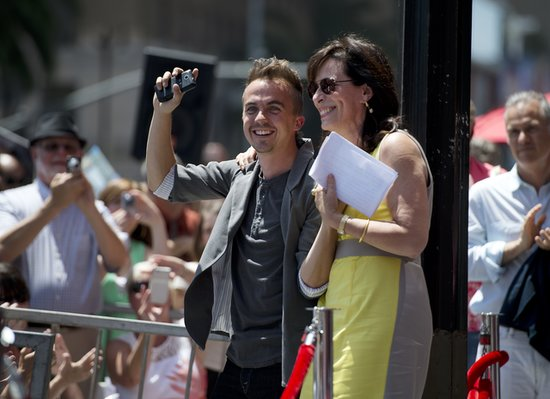 Jane Kaczmerak and Frankie Muniz showed up in support of Bryan Cranston as he received his star on the Walk of Fame.