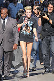 Miley wore a tiny pair of shorts on her way to rehearsals for Jimmy Kimmel Live! in June 2013.