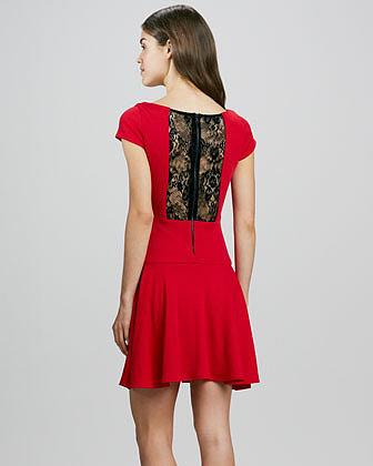 Alice + Olivia Rylie Lace-Back Dress