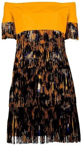 Kenzo leopard print fringed dress