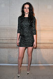 The actress wore a leopard-print Louis Vuitton mini while attending the Marc Jacobs exhibition during Paris Fashion Week back in March 2012.