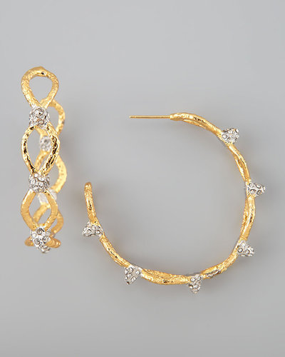 Alexis Bittar Siyabona Spike Hoop Earrings, Golden