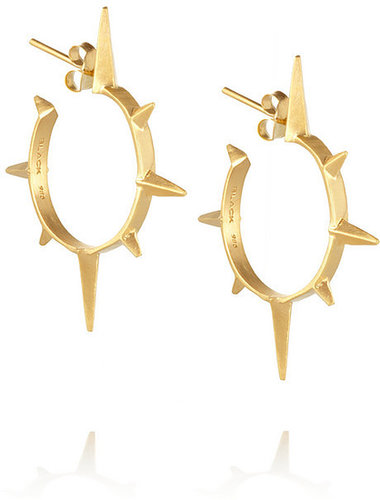 Maria Black Son gold-plated hoop earrings