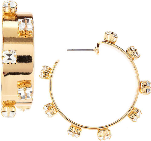 R.J. Graziano Wide Deco Hoop Earrings