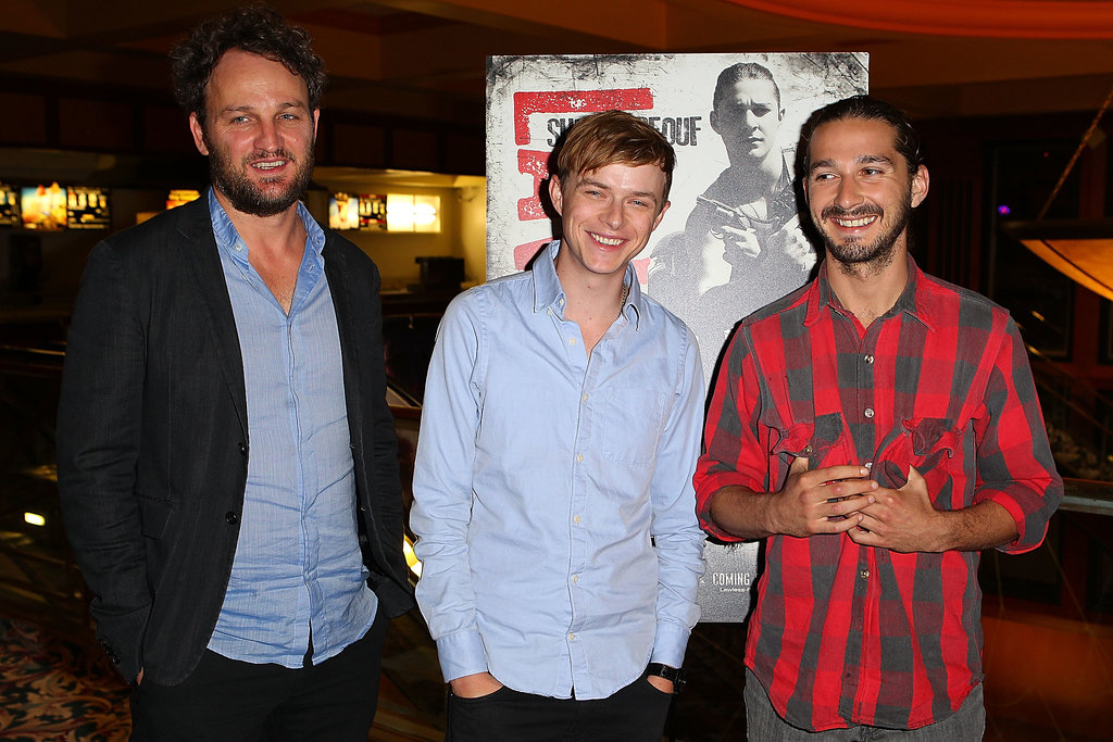 Shia LaBeouf posed with his Lawless costars Jason Clarke and Dane DeHaan at the film's screening in 2012.