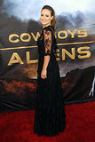 Olivia Wilde looked gorgeous in a long black gown for the Comic-Con premiere of Cowboys & Aliens in 2011.
