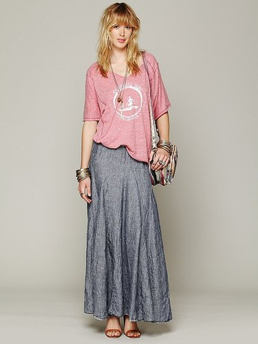 CP Shades Worker Stripe Chambray Maxi