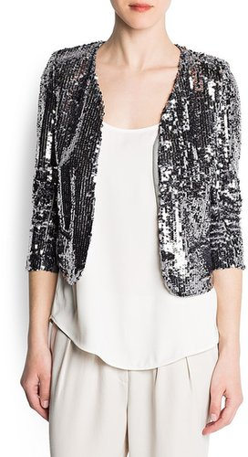 Sequined crop jacket