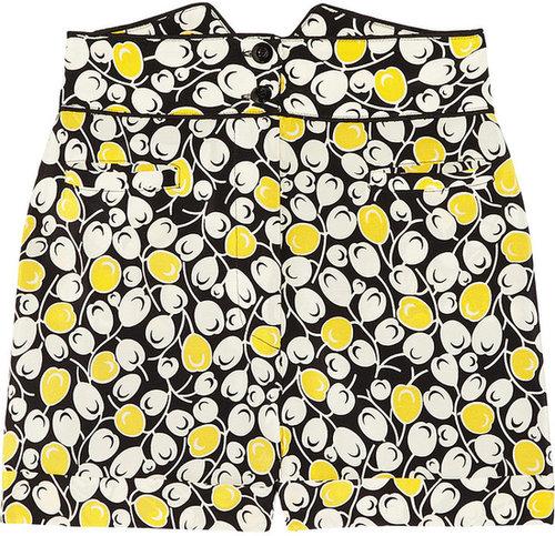 Anna Sui Printed silk crepe de chine shorts
