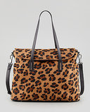 If toting your work stuff daily feels unbearably boring in staid black or navy, do it up in playful leopard ($625).