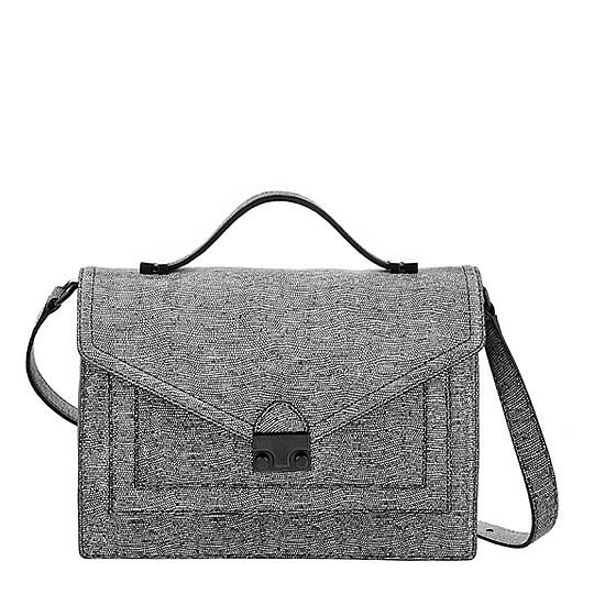 This go-with-everything version of Loeffler Randall's Rider bag ($347, originally $495) in embossed leather will lend polish year round.