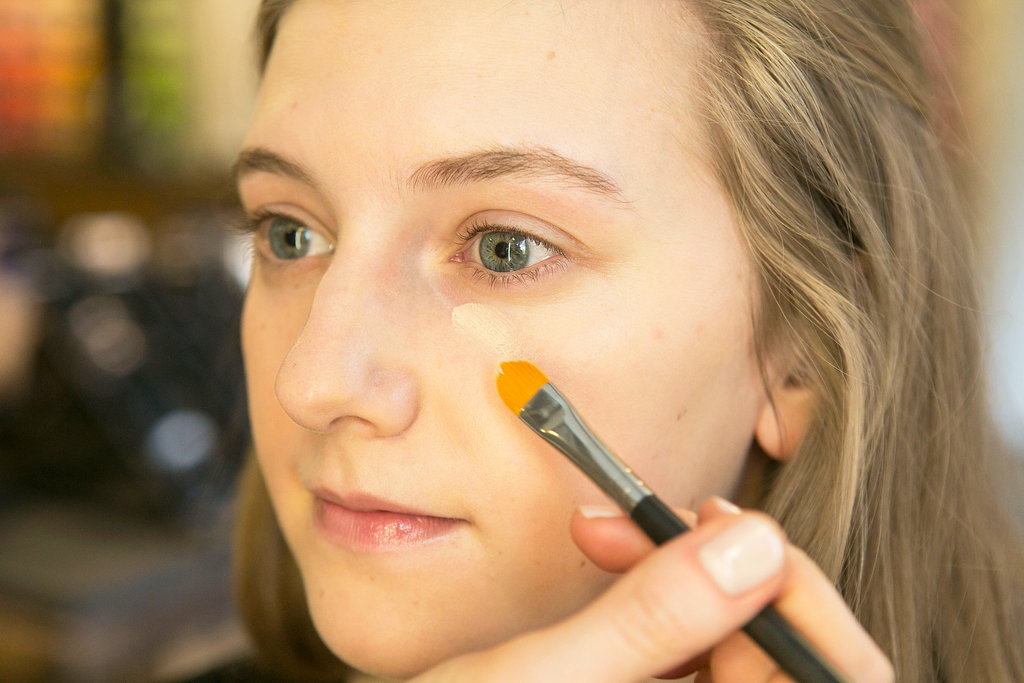 """Follow up with a longwear concealer, but Bettelli advises to keep the application light. """"You don't want to overuse it,"""" she says,""""because it gets cakey. A brush is a good option — pat for more coverage and then sweep to sheer."""""""
