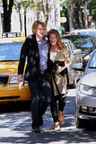 Owen Wilson and Kathryn Hahn shared a laugh while filming Squirrels to the Nuts in NYC on Tuesday.
