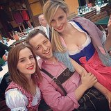 Emma Watson, Derek Blasberg, and Lauren Santo Domingo got into the local spirit while in Vienna for Caroline Sieber's luxe wedding. Source: Instagram user thelsd