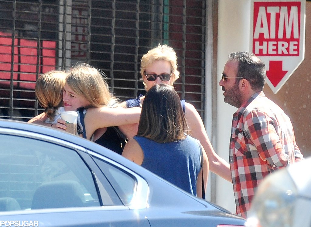 Cory Monteith's Glee castmates hugged goodbye after brunch.