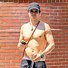 Orlando Bloom Walking Shirtless Pictures in NYC With Flynn