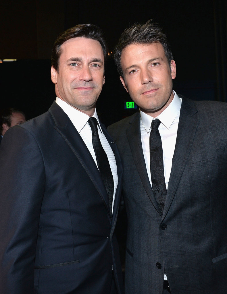 Ben Affleck met up with Jon Hamm inside the 2013 ESPY Awards.