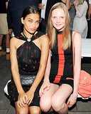 Shanina Shaik and Holly Rose took a seat at the Australian Fashion Foundation event.