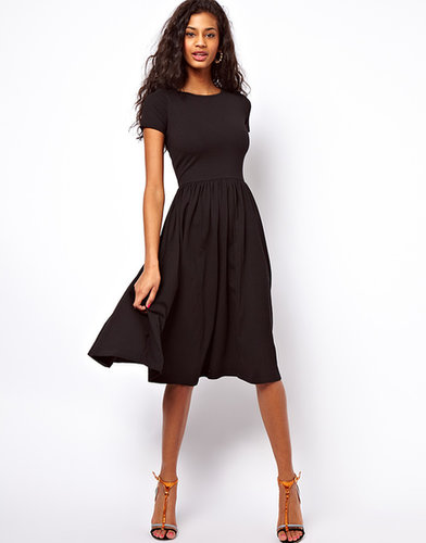 ASOS Midi Dress With Short Sleeves.