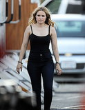 Kristen Bell continued her work on the Veronica Mars movie on Tuesday.