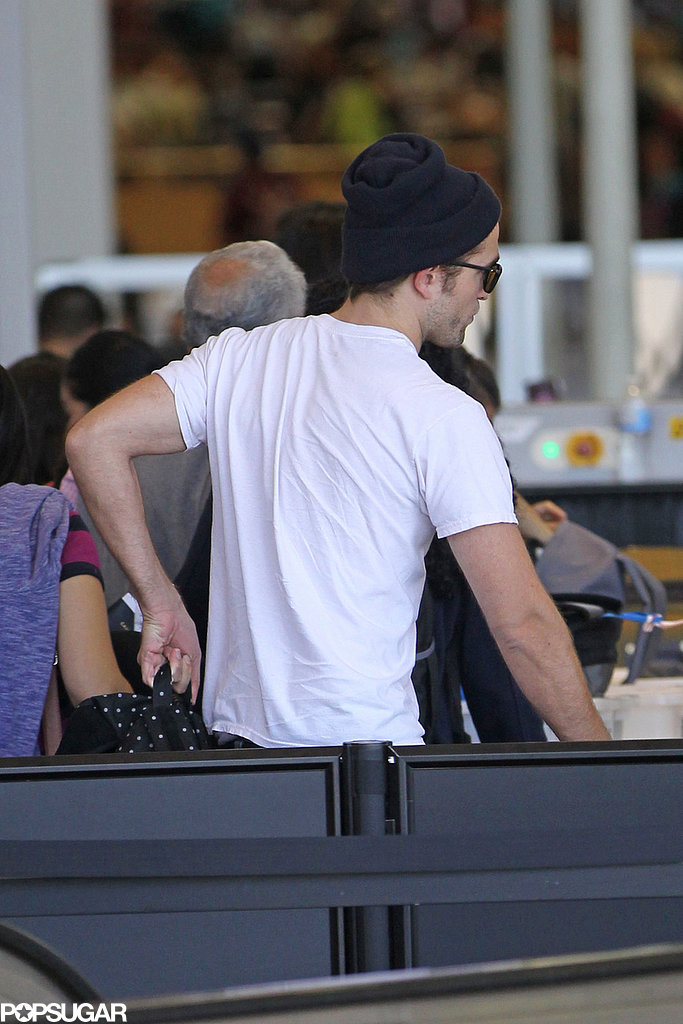 Robert Pattinson made his way through security at LAX.