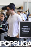 Robert Pattinson made his way through airport security.