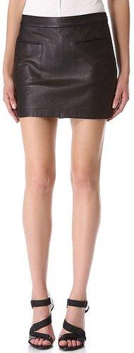 T by alexander wang Lightweight Leather Miniskirt