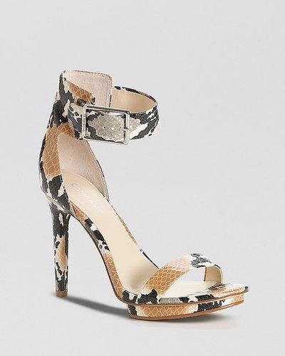 Calvin Klein Open Toe Platform Sandals - Vivian High Heel