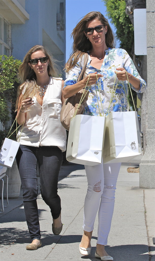 Gisele Bündchen went shopping in LA with a friend.