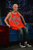 Michael Jordan showed off his new look when appearing on Late Night With Jimmy Fallon in New York on July 15. Just kidding, it's Kristen Wiig, doing her best imitation.