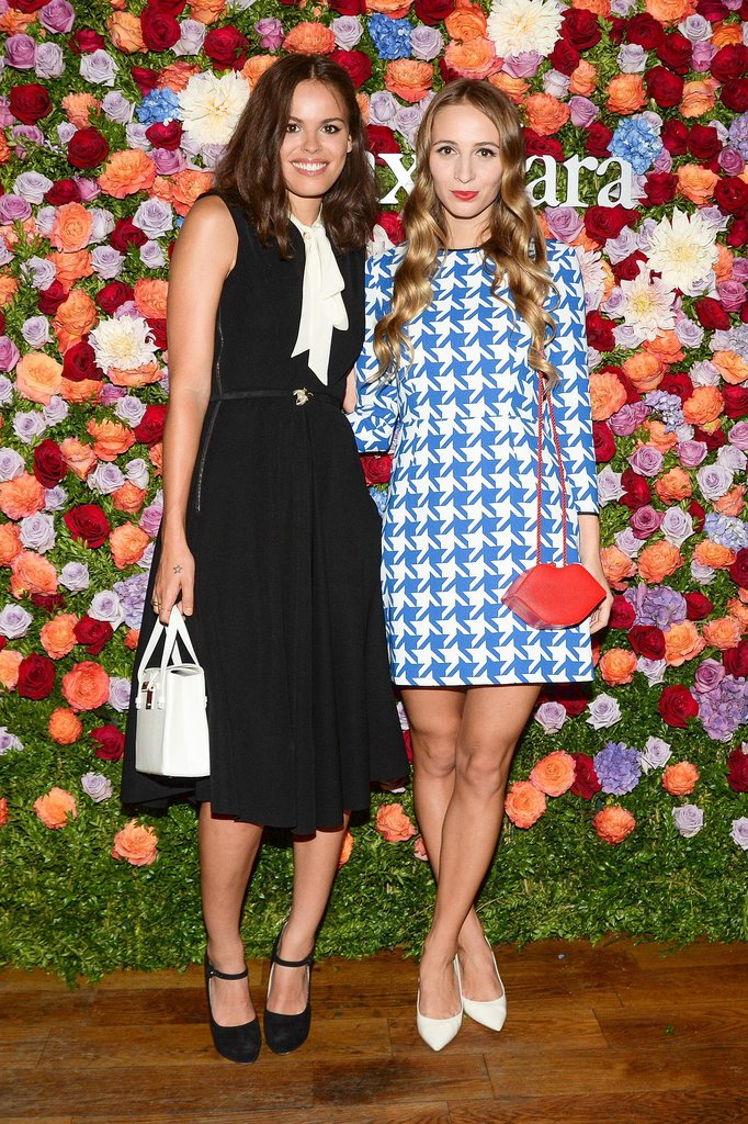 Atlanta de Cadenet and Harley Viera-Newton embraced a retro vibe at the Max Mara bash.