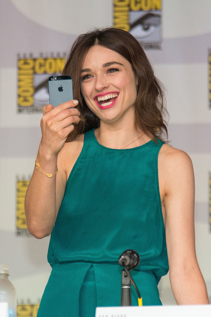 Also at the Teen Wolf panel was Crystal Reed, who paired her wavy bob with some hot-pink lipstick.