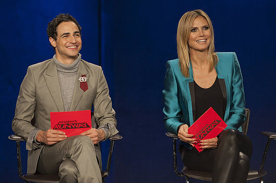 Are you in or out? Heidi Klum and Zac Posen speak about the latest season of Project Runway.  Photo courtesy of Lifetime