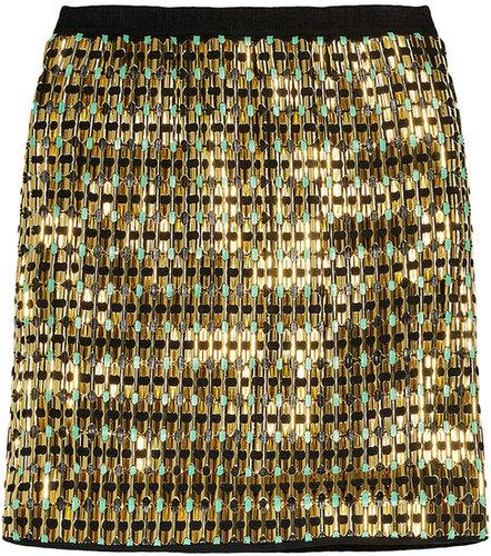Proenza Schouler Embellished jersey mini skirt