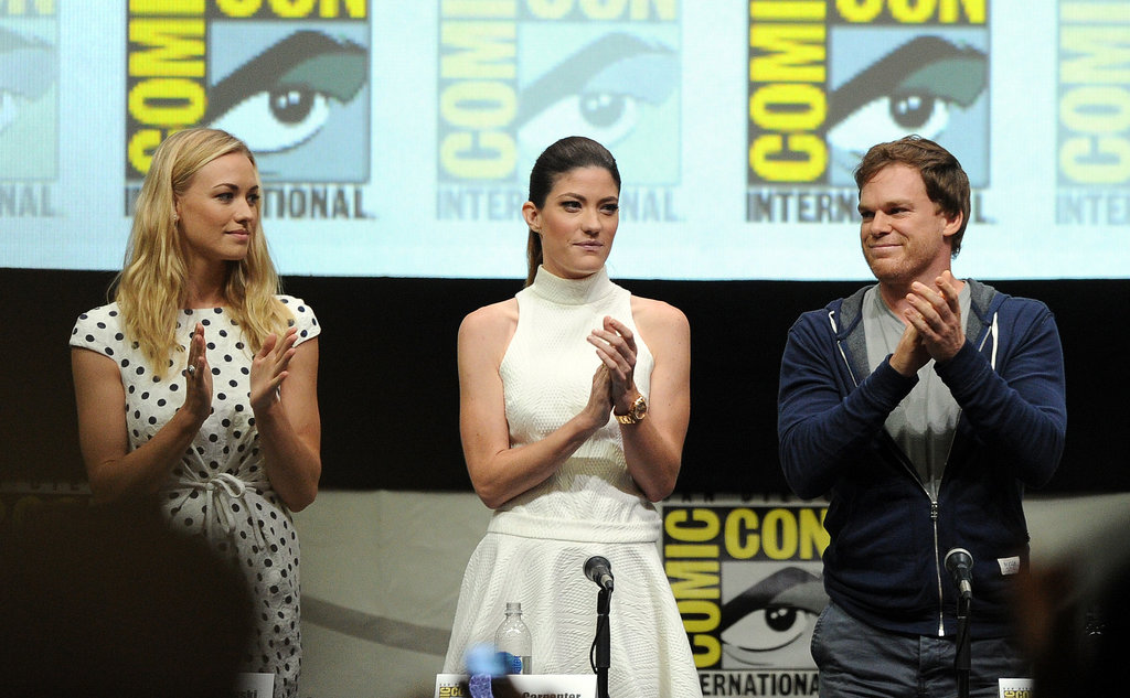 Yvonne Strahovski, Jennifer Carpenter, and Michael C. Hall all attended the Comic-Con panel for Dexter.