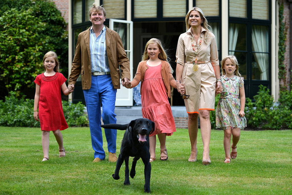 King Willem-Alexander, Queen Maxima, their dog Ski