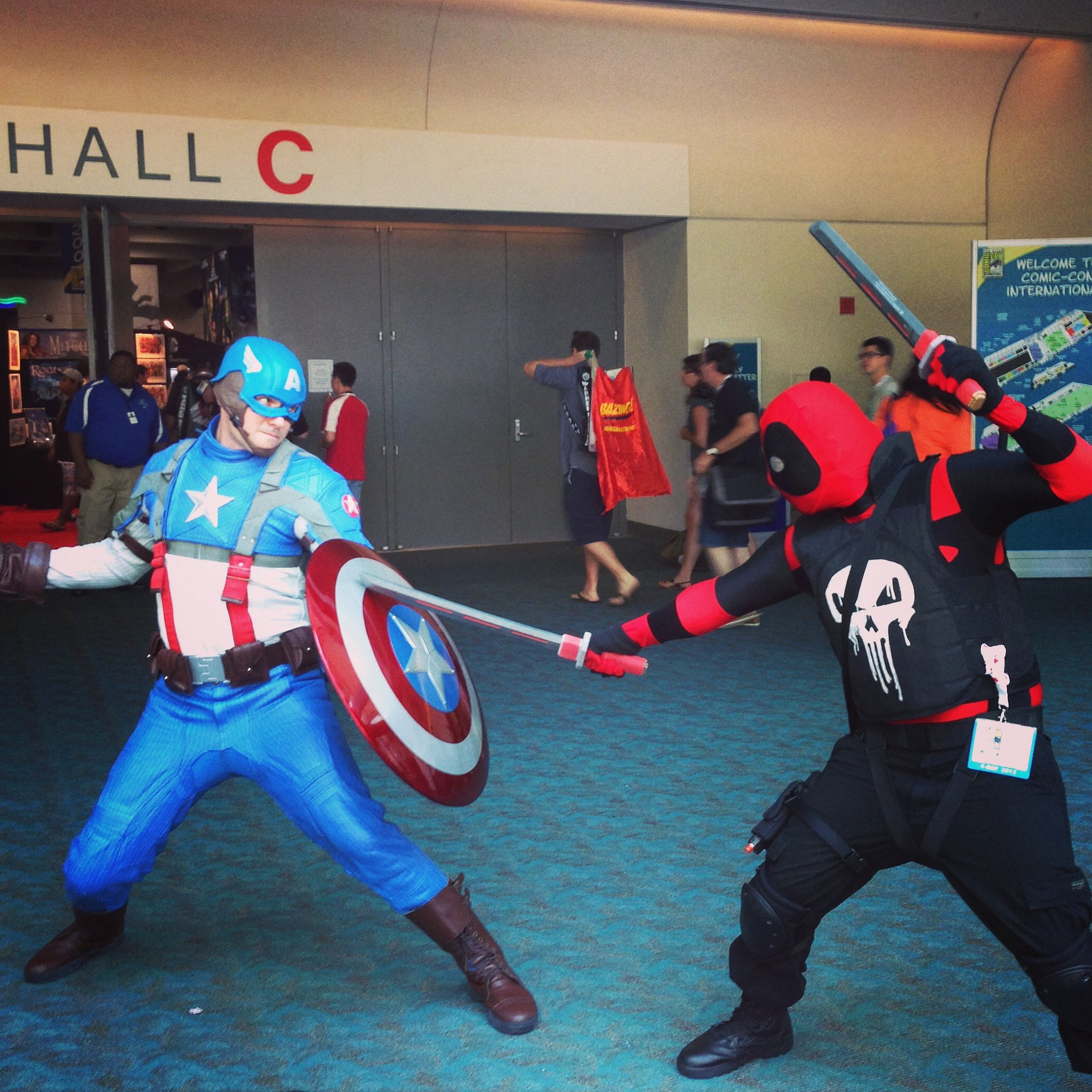 Captain America Vs The Punisher Halloween Costume