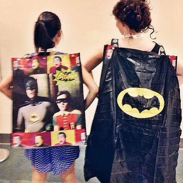 Butt-kicking Batman and Robin swag bags are a go.