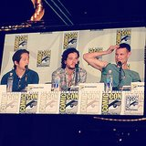 Steve Yeun, Kit Harington, and Matt Smith. We'll just leave this most adorable panel right here.