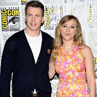 Scarlett Johansson and Chris Evans at Comic-Con 2013