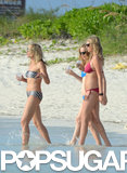 Cameron Diaz, Kate Upton, and Leslie Mann hit the water together.