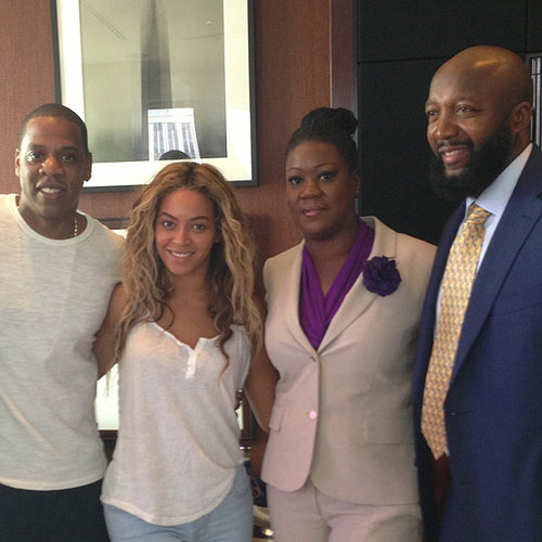 Beyonce and Jay-Z at Trayvon Martin Rally
