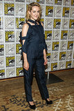 Jena Malone arrived to promote Catching Fire at Comic-Con.
