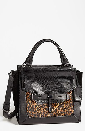 Vince Camuto 'Max' Calf Hair Satchel, Medium Winter Leopard
