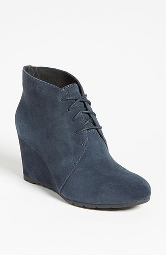 Clarks 'Rosepoint Dew' Bootie (Online Only Color) Womens Navy Suede Size 4 M 4 M