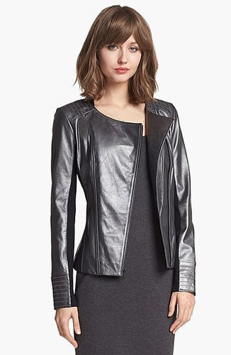 Trouve Stitch Detail Leather Jacket X-Small