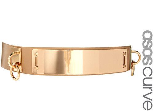 ASOS CURVE Plate + Ring Waist Belt