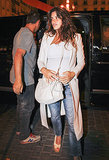 Pregnant Penélope Cruz arrived for dinner with her family in Spain.